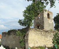 The ruins of the reformed parish church of the White River