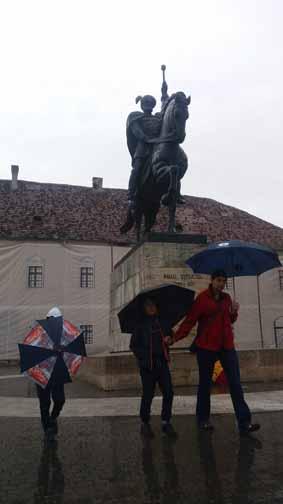 The statue of Mihai Viteazu