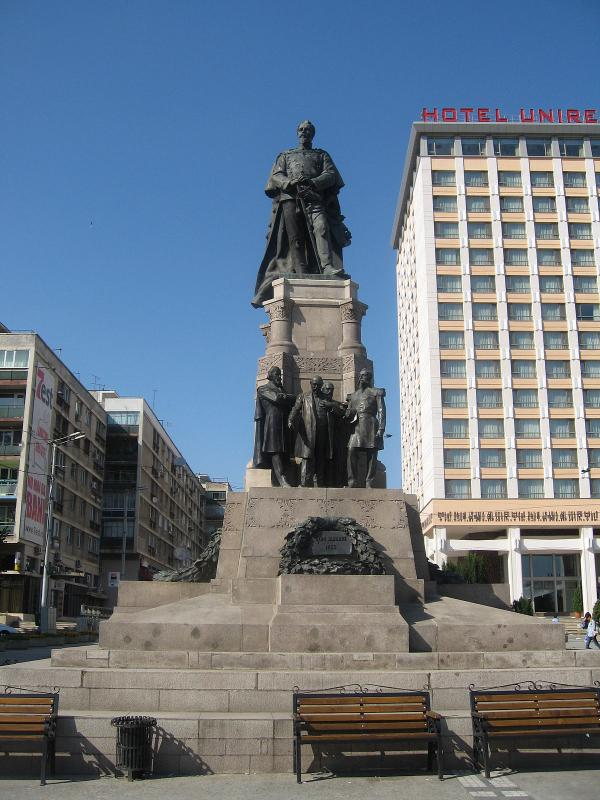 The statue of Alexandru Ioan Cuza