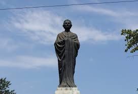 The statue of Mihai Eminescu