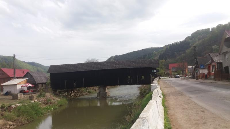 Wooden bridges covered