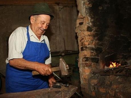 Visiting the blacksmith